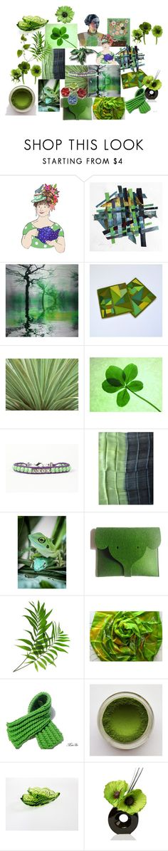 """GREEN MIX"" by talma-vardi ❤ liked on Polyvore featuring Parvez Taj and Hostess"