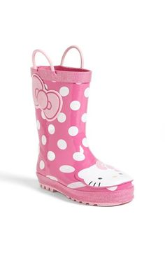 Western Chief 'Hello Kitty® - Cutie Dot' Rain Boot (Walker, Toddler, Little Kid & Big Kid) available at #Nordstrom ♡ed by LadyXeona.com