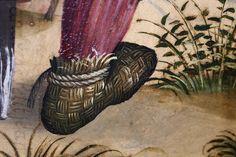 Die Schuhe der Karlsruher Passion, Staatliche Kunsthalle Karlsruhe, Meister der Karlsruher Passion um 1450 55 aus der Thomaskirche in Straßburg.