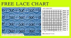 Lace knitting - free chart no.19