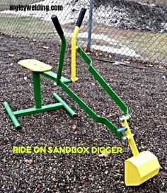 Check out http://sandboxbackhoe.com!  Commercial built ride on sandbox backhoe,snowexcavator, stainless steel ride on backhoe.Made In Minnesota