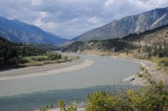 """""""Exploring the Gold Rush Trail - Lytton, British Columbia,"""" Photo by Tourism BC, via Flickr. -- """"Lytton, British Columbia, Canada sits at the confluence of the Fraser and Thompson Rivers. (The Thompson is the darker blue river in the image, the Fraser, the lighter grey colour)"""" -- Nice historical information at the click-through. [See also http://pinterest.com/pin/175218241724712895/]"""