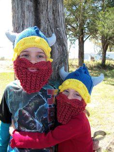 Crochet beard Baby Viking Hat Baby beard hat by Ritaknitsall