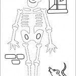 preschool_skeleton_dot_to_dot_activity_page_ worksheets