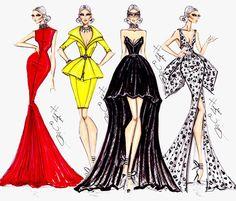 Fashion draws en marcos para paredes