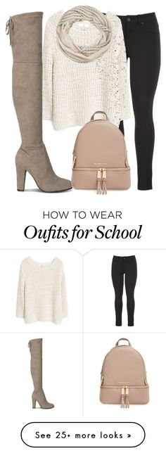 """Fancy 4 school"" by fashion-luver-unillama on Polyvore featuring moda, maurices, MANGO ve MICHAEL Michael Kors"