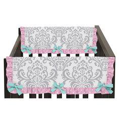 Sweet Jojo Designs Set of 2 Skylar Collection Side Crib Rail Guard Covers