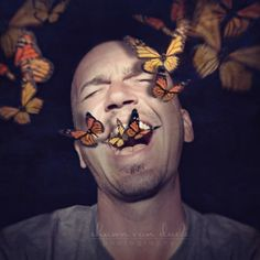 Shawn's AMAZING photography!!  Sing (Shawn Van Daele) www.facebook.com/shawns365 #butterfly #butterflies #photoshop #photomanipulation #art #surreal