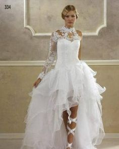 Robe de mariee courte devant