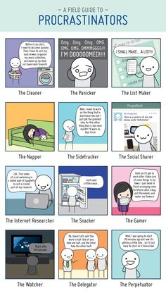 A Field Guide to Procrastinators - Which approach are you using today?