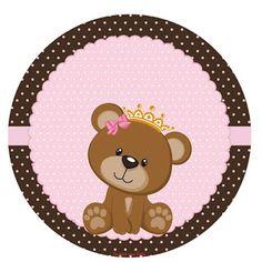 Tarjetas Baby Shower Niña, Imprimibles Baby Shower, Baby Shower Invitaciones, Baby Shower Oso, Dibujos Baby Shower, Baby Shower Cards, Teddy Bear Day, Baby Shawer, Bear Party