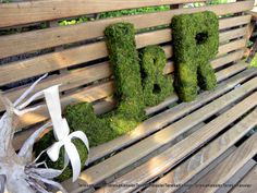 Forest green Letters-Wedding Letters