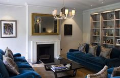 How to turn your TV into a statement piece... How amazing does our 'Regency' frame look within this front room?! Mirror Tv, Framed Tv, Regency, Living Area, Picture Frames, Interior Design, Amazing, Room, Home Decor
