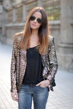 I'm a sequin kind of girl too. Love everything she wears #fashionvibe