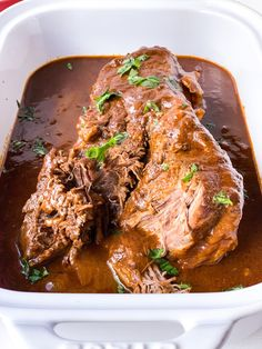 Red Chile Beef or chicken or pork in slow cooker Beef Dishes, Tasty Dishes, Spanish Rice And Beans, Green Chile Enchilada Sauce, Red Enchiladas, Paleo, Keto, Round Roast, Recipe Search