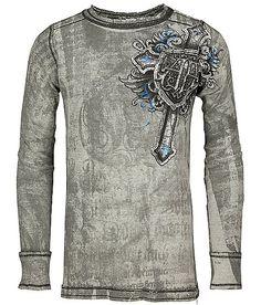 Affliction Mural Reversible Thermal Shirt