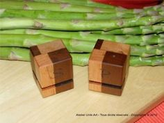 Mini Salt and Pepper made with reclaimed wood by Atelier Unik-Art