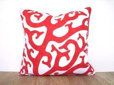 Coral throw pillow cover 20x20 summertime decor by anitascasa
