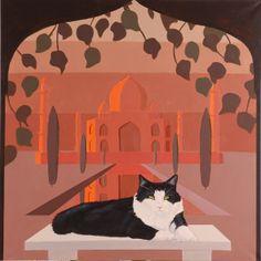 Taj Mahal #Cat #Painting #Acrylic