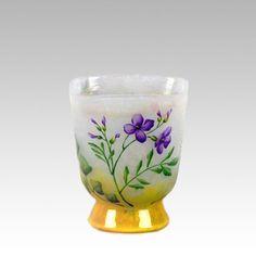 Aubretia Vase by Daum Freres - Cameo Glass at Hickmet Fine Arts