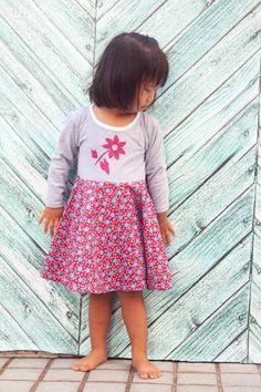 Freebook (englisch) Kinderkleid/ Kleid für Kinder 2- 12Jahre nähen