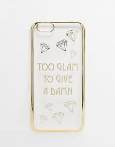 ASOS | ASOS - Too Glam To Give A Damn - Étui pour iPhone 5 chez ASOS