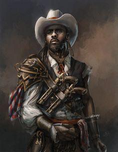 """Steampunk Cowboy"", by Angelique Shelley."