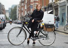 Fully charged: Victoria Pendleton launches a special edition black and rose gold version of her best-selling Somerby electric bike. Victoria Pendleton Bike, Fashion Maker, Bike News, Bicycle Girl, Olympians, Sport Fashion, The Guardian, Older Women, Baby Strollers