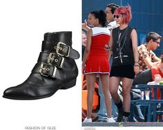 Quinn's booties are on clearance, so snap them up! Dolce Vita for Target Buckle Ankle Boots - $12.24 Worn with:Topshop sunglasses,Ur...