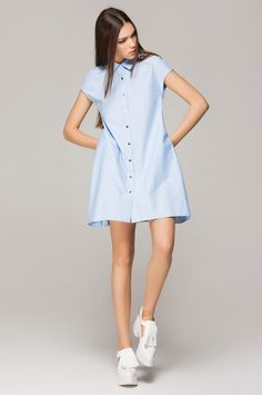 31 Work-Ready Dresses To Throw On And Go #refinery29  http://www.refinery29.com/dresses-for-work#slide-6  This pretty blue looks good on everyone.