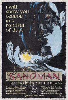 Sandman comic book advertisement - 1988