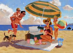 Illustration by Eric Bowman LindgrenSmith.com http://www.pinterest.com/bagnivirginia/beach-painting/