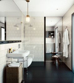 Oscar Properties : HG7 #oscarproperties  bathroom, bathtub, interior, design, art, architecture, new home, sweden, stockholm #packhuset