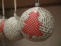 DIY Paper Mache Christmas Ornaments | Loving City Living
