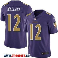 Men's Baltimore Ravens #12 Mike Wallace Purple 2016 Color Rush Stitched NFL Nike Limited Jersey