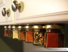 Put a magnet strip under your cabinets to store spices. I might do this! 41 Creative DIY Hacks To Improve Your Home Diy Hacks, Kitchen Organization, Organization Hacks, Storage Hacks, Kitchen Storage, Storage Ideas, Organizing Tips, Storage Solutions, Organizing Solutions