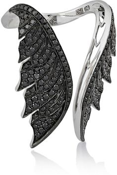Stephen Webster Magnipheasant Open Wing 18-Karat White Gold Diamond Ring