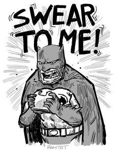 Batman eating a sandwich by Dan Santat