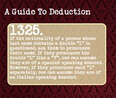 a guide to deduction 1325. Nationality and LL. -SH
