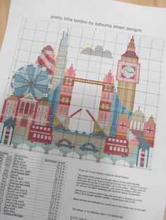 pretty little london cross stitch - Google Search
