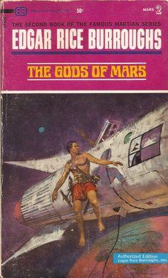 Gods of Mars - Edgar Rice Burroughs, cover by Bob Abbett