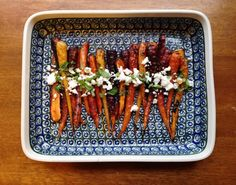 Morrocan Spiced Carrots with Feta and Mint | Rosemarried