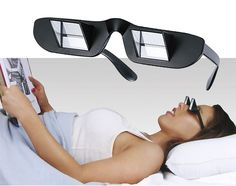 Now you can watch TV while lying down without straining your neck!
