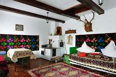 Romania traditional room in Maramures#