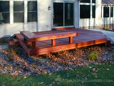 This fall, make a statement with Advantage. A bench lining the deck