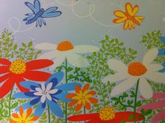 Colorful card with flowers and butterflies. Sent by a Postcrosser in Finland. (Postcrossing  FI-1113271)