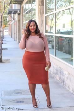 Spring and trendy looks plus size women should rock Looks Plus Size, Curvy Plus Size, Moda Plus Size, Curvy Outfits, Mode Outfits, Plus Size Outfits, Fashion Outfits, Dress Fashion, Curvy Women Fashion