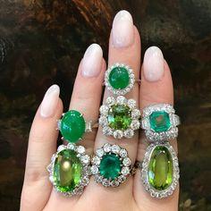 How do you wear your green-- in Jade, Peridot, or Emerald? #langantiques