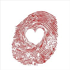 red-fingerprint-with-heart notepad - red gifts color style cyo diy personalize unique Tribal Tattoos, Tattoos Skull, Body Art Tattoos, I Tattoo, Tatoos, Heart Tattoos, Fingerprint Tattoos, Fingerprint Heart, Thumbprint Tattoo