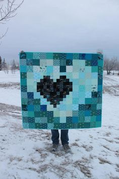 Pixel Heart in a Pixel Heart Quilt Pattern | Craftsy